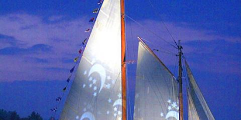 Schooner True Love on Seneca Lake